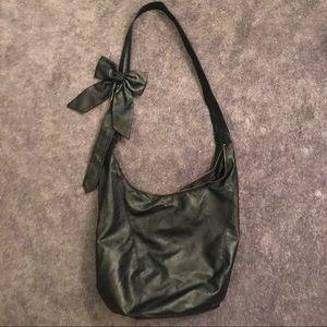 Forever 21 Bags - Oversized Black Crossbody Hobo Bag